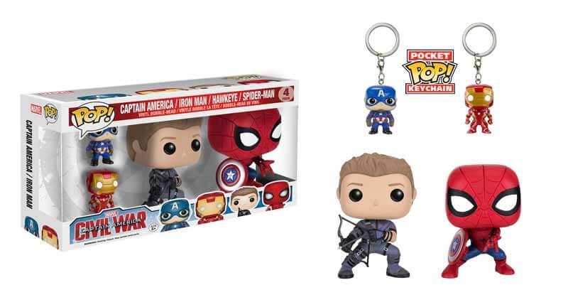 Civil War Spiderman Hawkeye Funko POP!